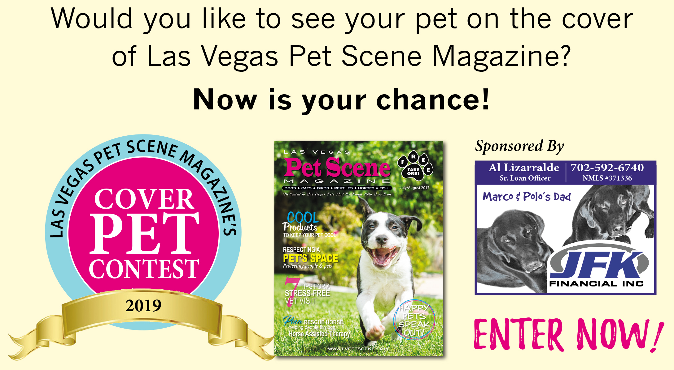 Las Vegas Pet Scene Magazine's COVER PET CONTEST