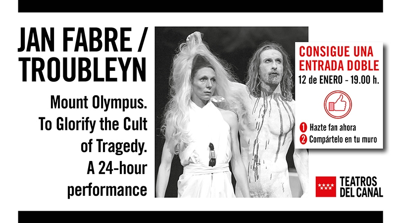Gana una entrada doble para disfrutar de `MOUNT OLYMPUS. TO GLORIFY THE CULT OF TRAGEDY. A 24-HOUR PERFORMANCE´ de JAN FABRE y su compañía TROUBLEYN, en los Teatros del Canal