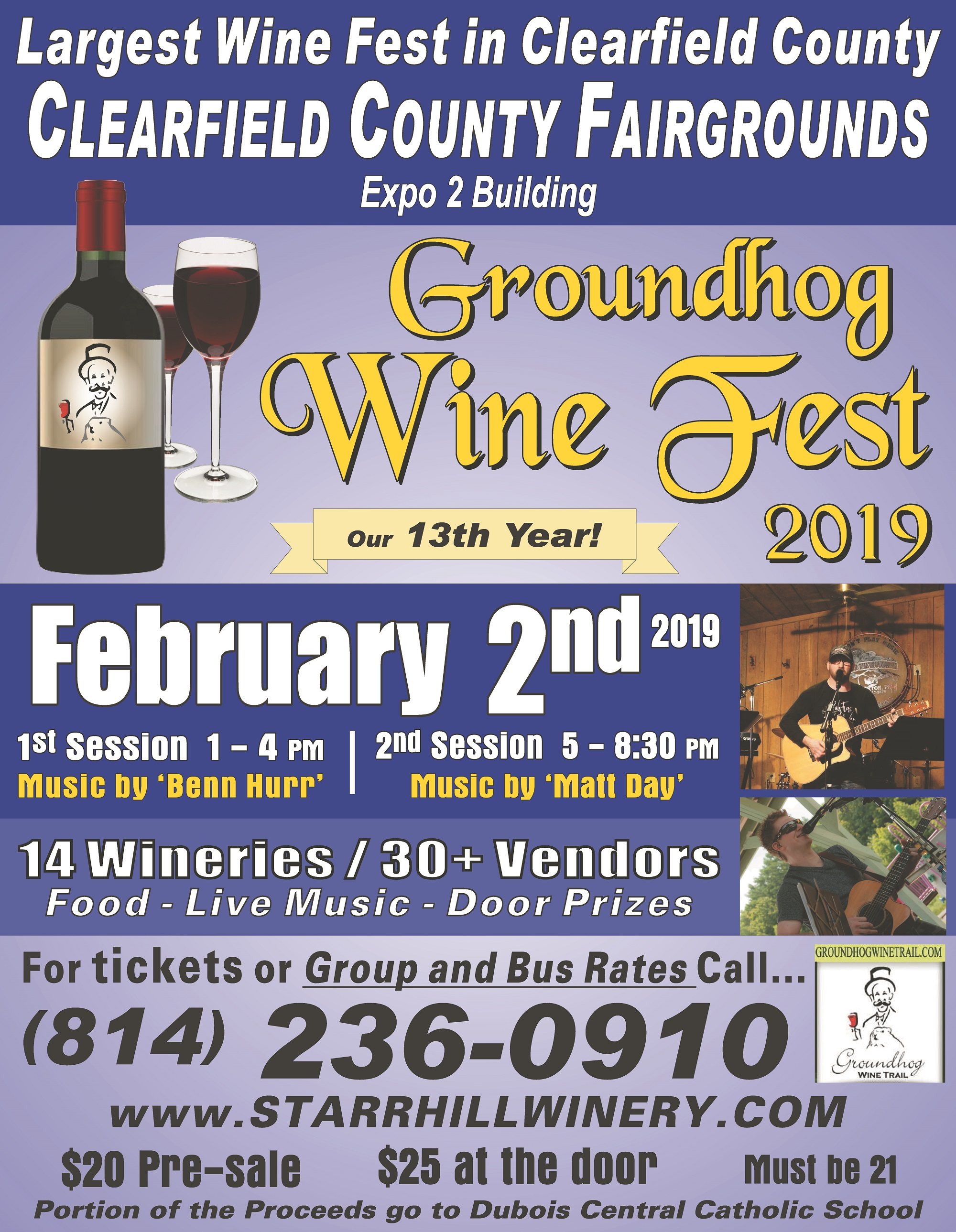 Win Tickets to the Grounghog Wine Festvial Courtesy of Starr Hill Winery, GANT News and Novey Recycling